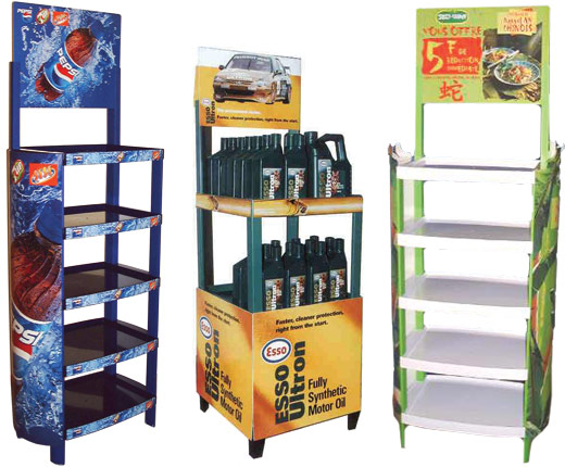 Posimax modular display stands
